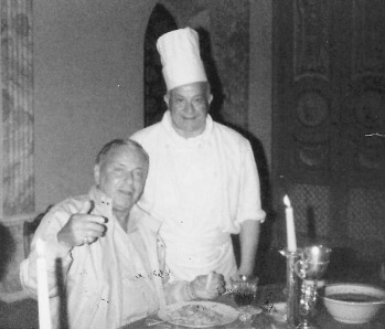 Frank Sinatra left, Luigi Pavia right
